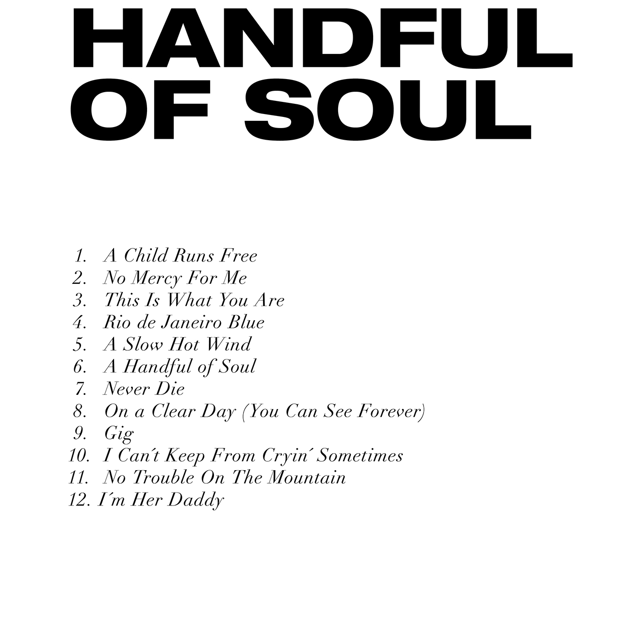 Handful of Soul - tracce