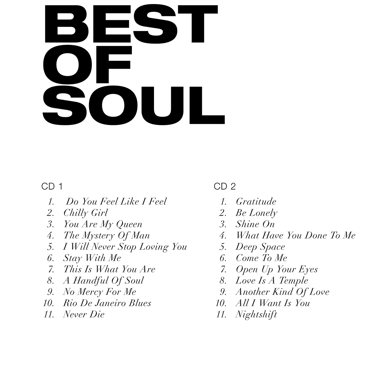 Best of Soul - tracce